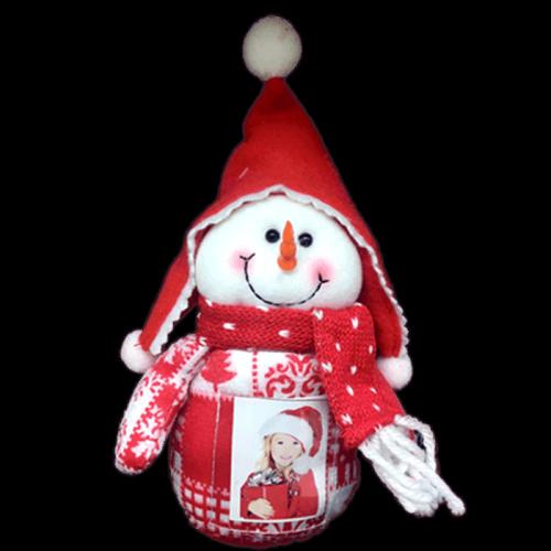 Ornament de Brad Textil cu Poza - 02