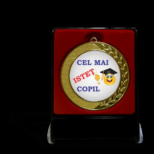 """Medalie in cutie """"Copil istet"""""""