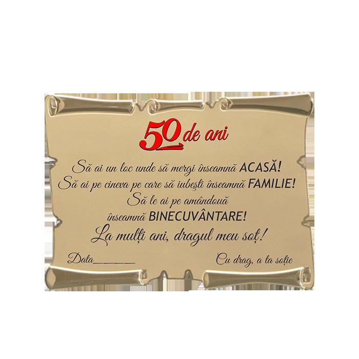 Placheta Aniversare 50 de ani