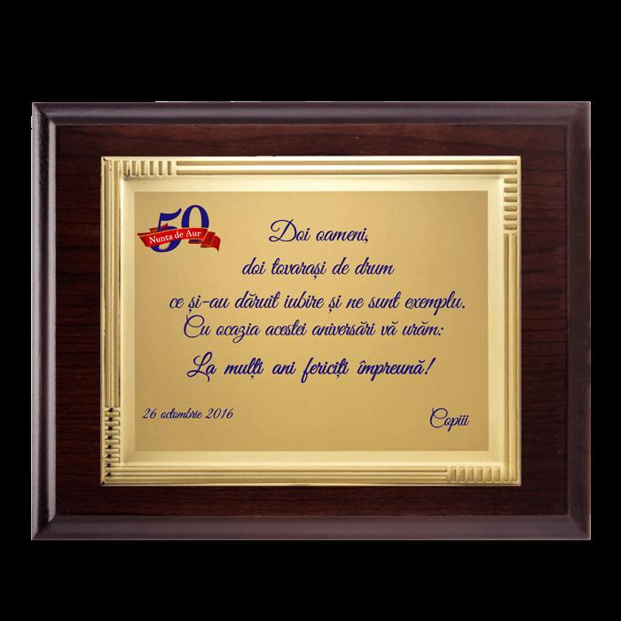 """Placheta """"Nunta de Aur"""" 1"""