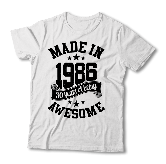 "Tricou ""Made in 1986"""